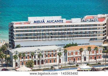 Alicante, Spain - SEPTEMBER 2015: Melia Hotel in Marina