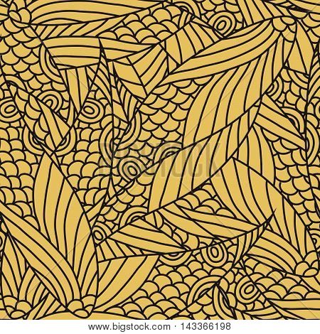 Seamless Abstract Yellow  And Black Pattern Vector Format