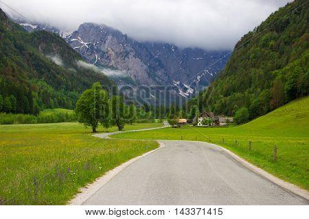 Beautiful mountain valley - Logarska dolina, Slovenia
