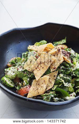 fatoush fattoush traditional classic famous lebanese middle eastern salad