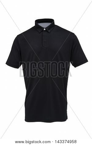 Golf black tee shirt for man or woman isolated on white background