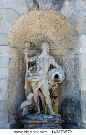 Sculpure Of Fountain Grotto At Castle Schloss Hof, Austria