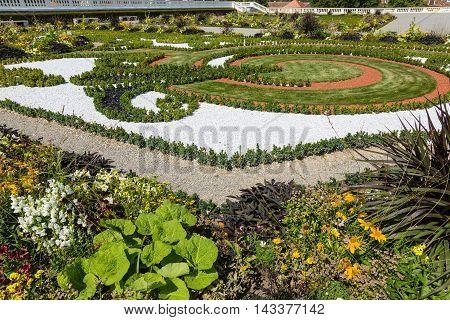 Baroque Garden Of Castle Schloss Hof In Lower Austria