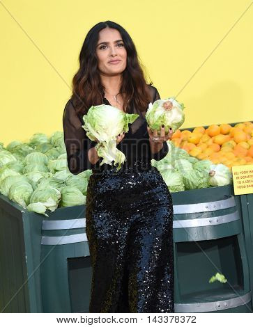 LOS ANGELES - AUG 09:  Salma Hayek arrives to the