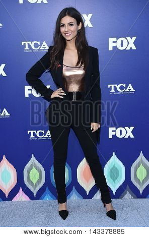LOS ANGELES - AUG 08:  Victoria Justice arrives to the FOX Summer TCA Party 2016 on August 08, 2016 in West Hollywood, CA