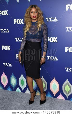 LOS ANGELES - AUG 08:  Laverne Cox arrives to the FOX Summer TCA Party 2016 on August 08, 2016 in West Hollywood, CA