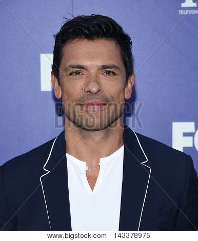 LOS ANGELES - AUG 08:  Mark Consuelos arrives to the FOX Summer TCA Party 2016 on August 08, 2016 in West Hollywood, CA