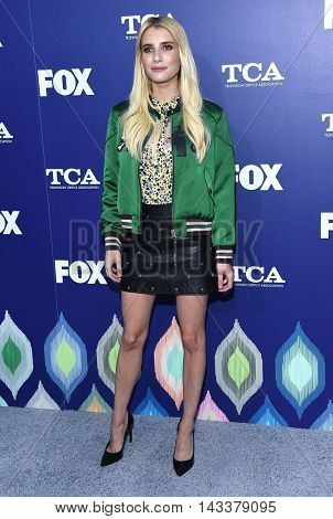 LOS ANGELES - AUG 08:  Emma Roberts arrives to the FOX Summer TCA Party 2016 on August 08, 2016 in West Hollywood, CA
