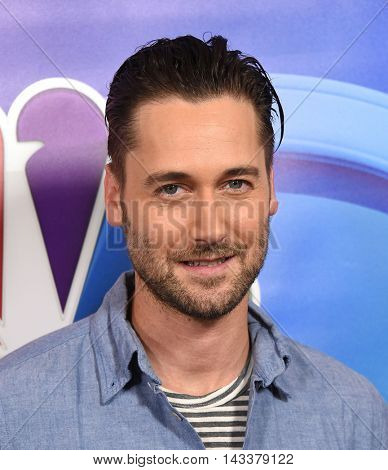LOS ANGELES - AUG 02:  Ryan Eggold arrives to the NBC Universal TCA Summer Press Tour 2016 on August 02, 2016 in Beverly Hills, CA