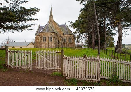 Ross, Australia - September 17 - The beautiful Ross Uniting Church in Ross, Tasmania, Australia on September 17th 2009.