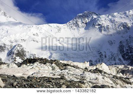Belukha Peak (4506m) in Altai Mountains, Russian Federation