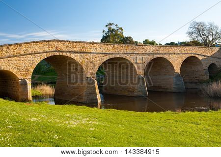 Richmond historic bridge in Richmond near Hobart, tasmania, Australia