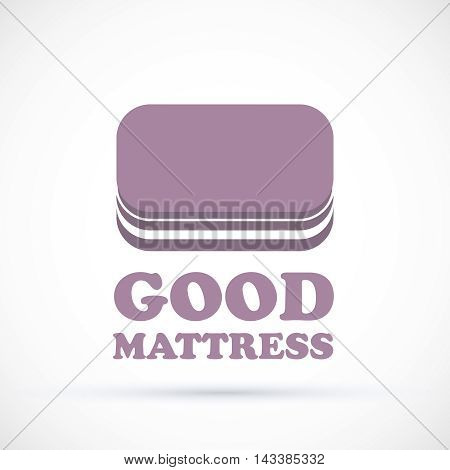 Logo violet sign matress shop vector illustration