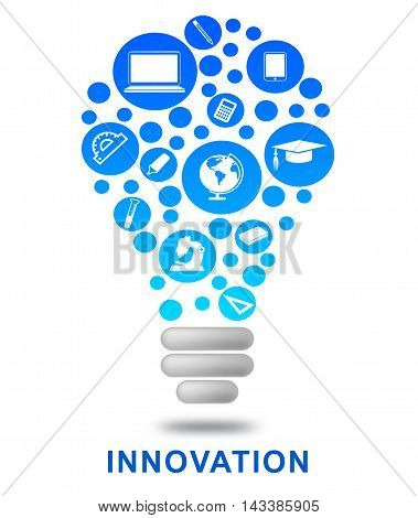 Innovation Lightbulb Shows Creativity Breakthrough And Ideas