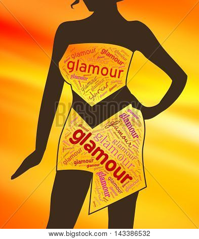 Glamour Clothes Represents Clothing Glamorous And Vogue
