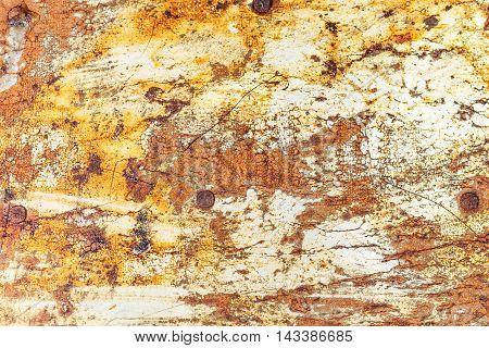 Old Rusty Metallic Surface Of Tin-plate