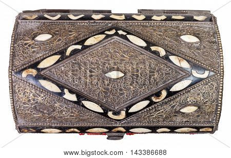 Above View Of Traditional Ancient Arabic Casket