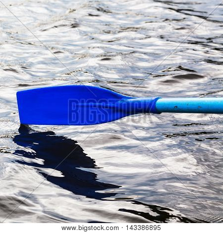 Paddle Over The Water During Rowing Boat