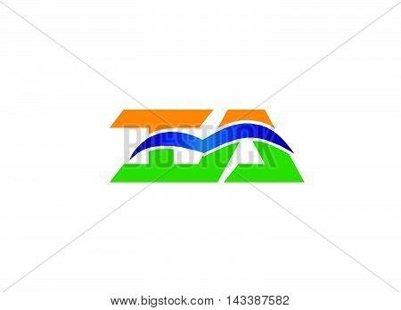 Ai logo letter. AI company group linked letter logo