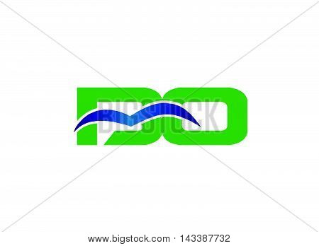 BO initial company group logo design tempplate