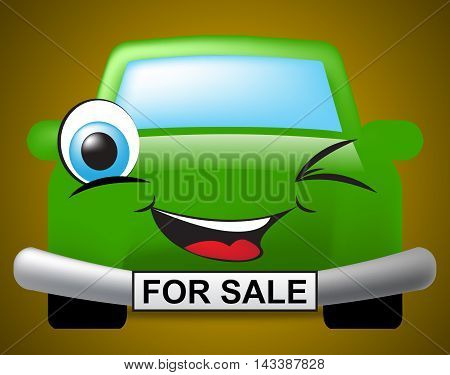 Car For Sale Represents On Market And Auto
