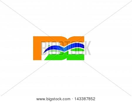 Letter E and B logo vector design