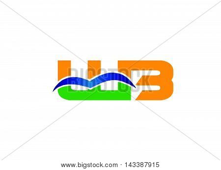 CW company linked letter logo design template