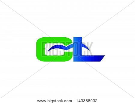 Letter L and C logo vector design