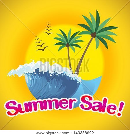 Summer Sale Represents Summertime Discounts And Promo