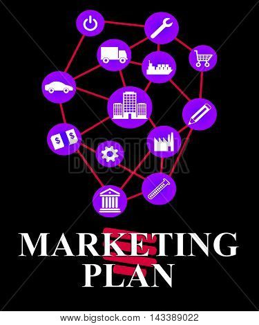 Marketing Plan Shows Emarketing Programme And System