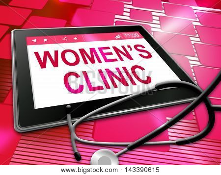 Womens Clinic Shows Online Female Health 3D Illustration