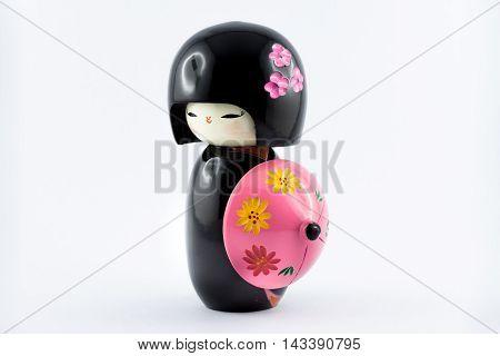 Famous Japanese Kokeshi Dolls Made Of Wood