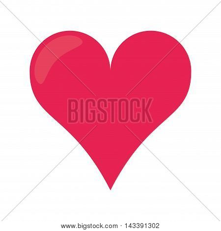 heart love romantic passion shape icon. Flat and Isolated design. Vector illustration