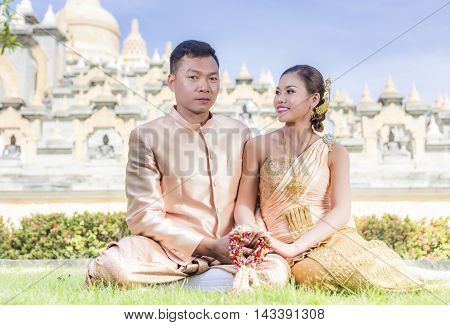 South East Asian Couple, Happiness and romantic Scene of love couples partners