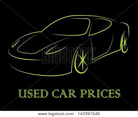 Used Car Prices Shows Second Hand Auto Values
