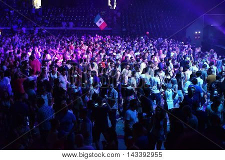 Partying Crowd In The Disco