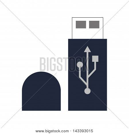 usb gadget device technology icon. Flat and Isolated design. Vector illustration