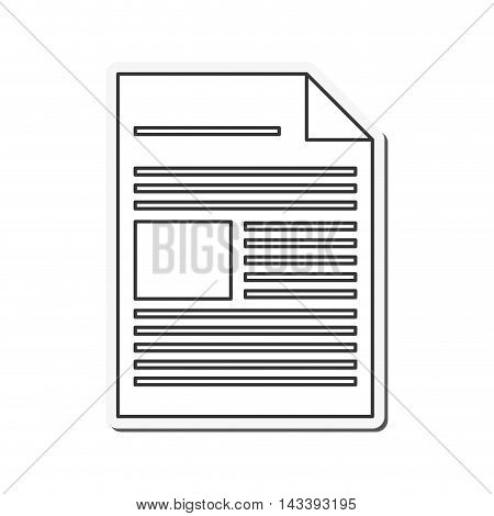 document piece paper information icon. Flat and Isolated design. Vector illustration
