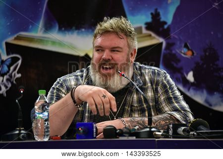 Kristian Nairn (hodor, Game Of Thrones) At A Press Conference