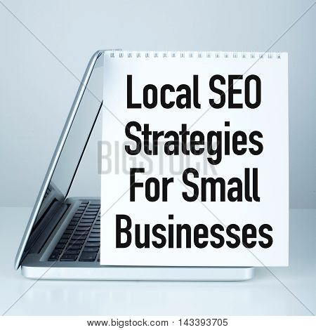 Local SEO strategies for small businesses concept