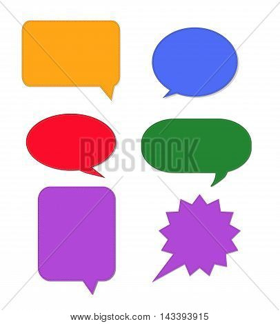 Speech bubble Icon, Collection of colorful speech bubbles and dialog balloons