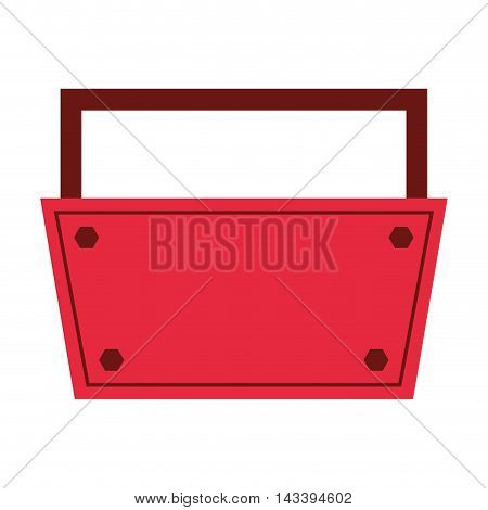 tool kit box construction repair icon. Flat and Isolated design. Vector illustration