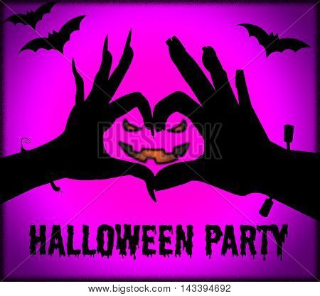 Halloween Party Shows Parties And Having Fun