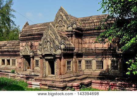 Samut Prakan Thailand - January 15 2013: The Phimai Sanctuary from Nakhon Ratchasima at Ancient Siam heritage park