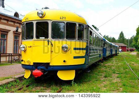 Old diesel train (Dm7) in Porvoo Finland.