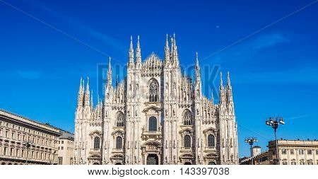 Duomo Meaning Cathedral In Milan Hdr