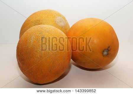 Delicious melon for eating healthy and happy life on a white background