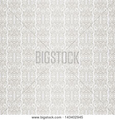 Seamless wallpaper retro pattern on white background vector illustration