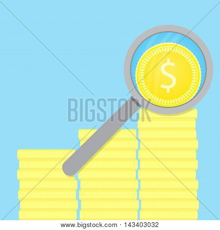 Analysis of finance. Analytics and business analysis research data analysis. Vector illustration