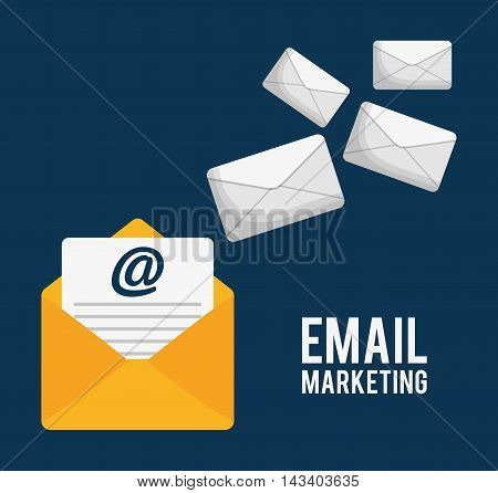 envelope email marketing send icon. Colorful and flat design. Vector illustration